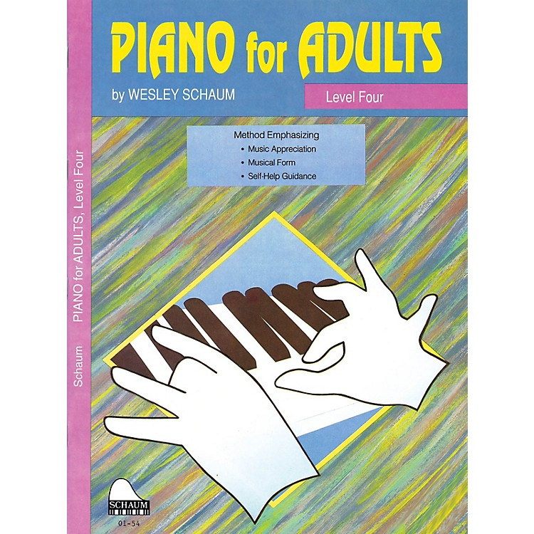 SCHAUMPiano for Adults (Level 4 Inter Level) Educational Piano Book by Wesley Schaum