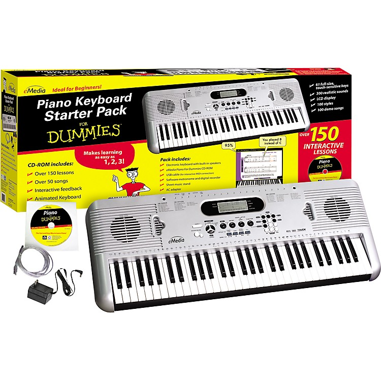 eMediaPiano for Dummies 61-Key Keyboard Starter Pack