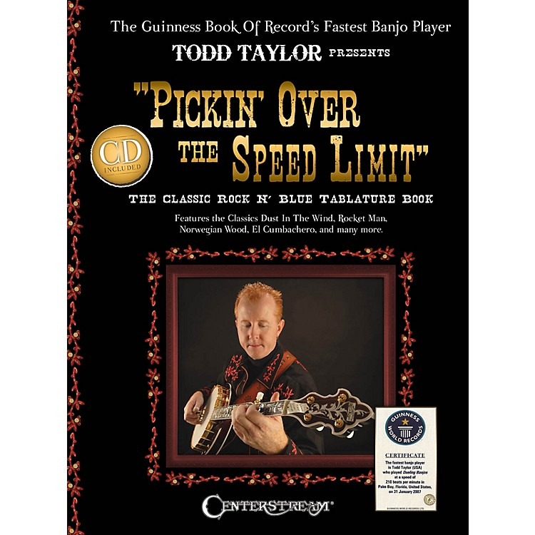 Centerstream PublishingPickin' over the Speed Limit Banjo Series Softcover with CD Performed by Todd Taylor