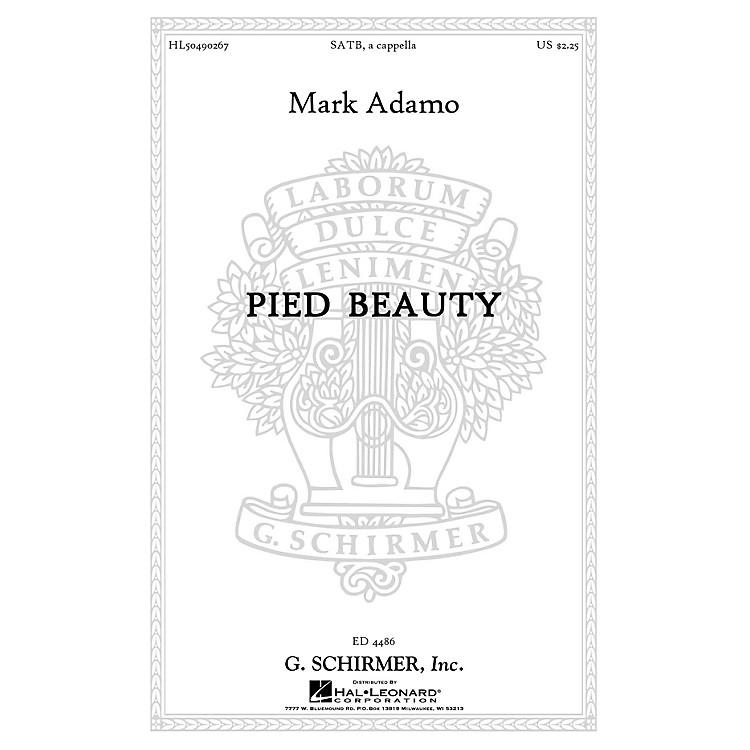 G. SchirmerPied Beauty SATB a cappella composed by Mark Adamo