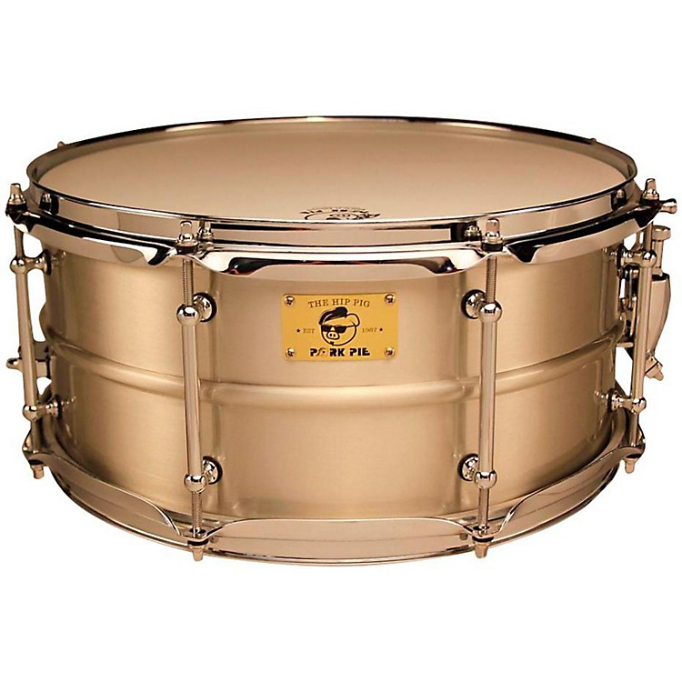 Pork Pie Pig Iron Snare Drum 14x6.5 in. Tin Plated Satin