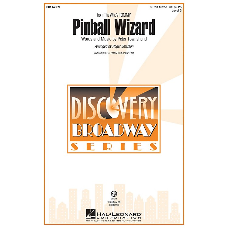 Hal LeonardPinball Wizard (Discovery Level 3 2-Part) 2-Part by The Who Arranged by Roger Emerson