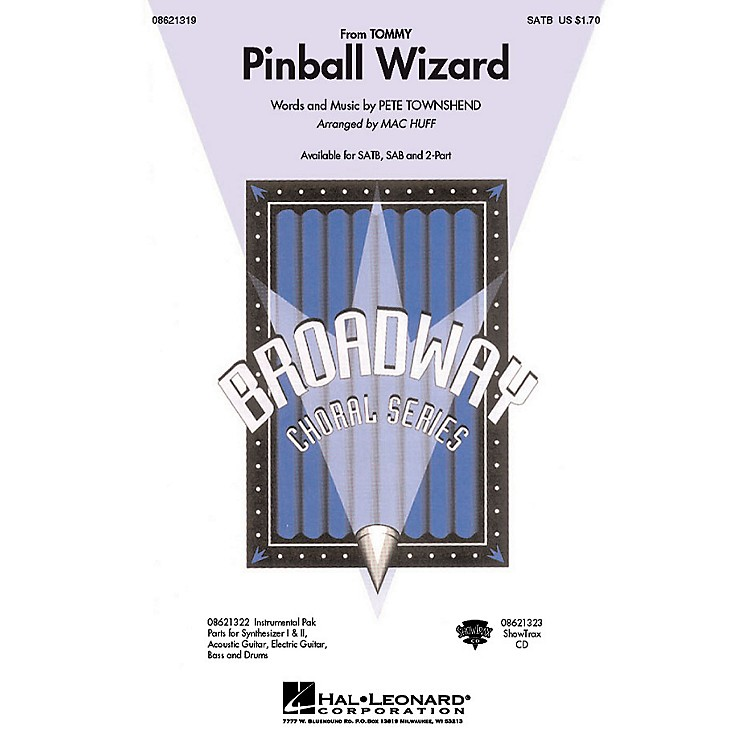 Hal LeonardPinball Wizard (from Tommy) 2-Part by Who Arranged by Mac Huff