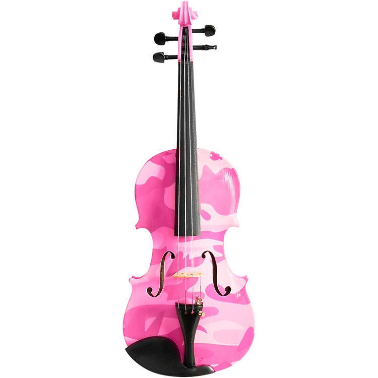 Rozanna's Violins Pink Camouflage Series Violin Outfit 4/4