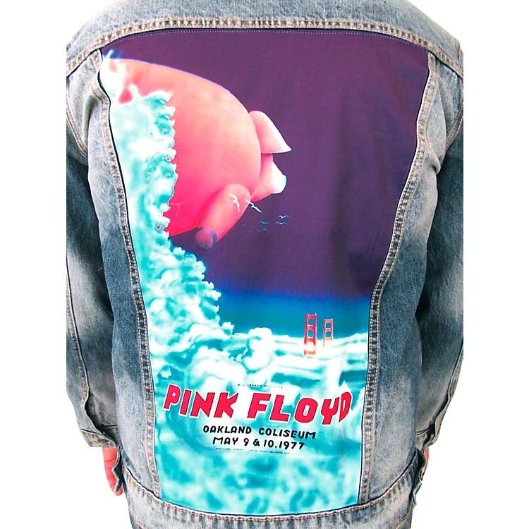 Dragonfly ClothingPink Floyd - Oakland Coliseum '77  Pig In The Sky - Mens Denim JacketX Large