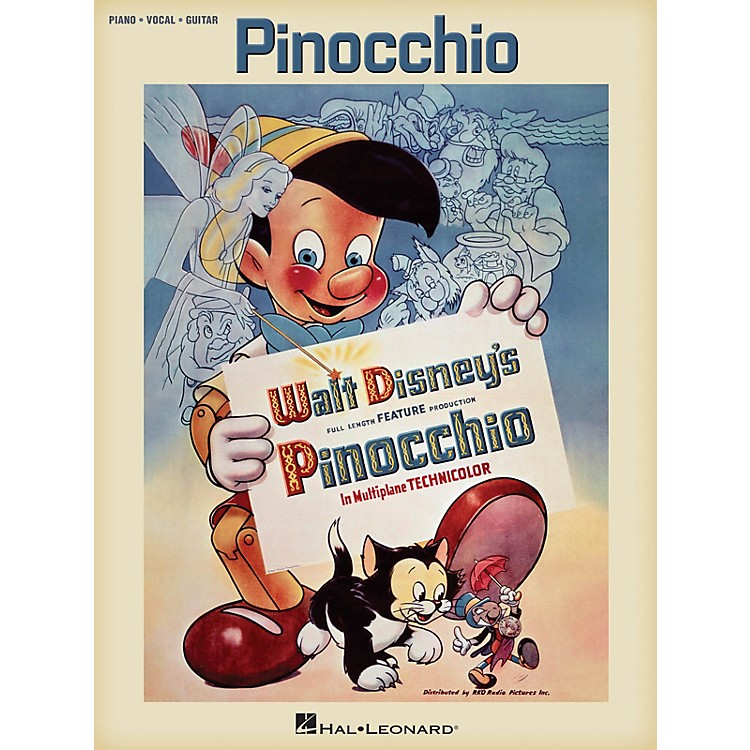 Hal Leonard Pinocchio (Music from the Full Length Feature Production) Piano/Vocal/Guitar Songbook