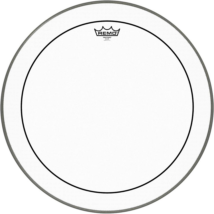 Remo Pinstripe Clear Bass Drum Head  20 in.