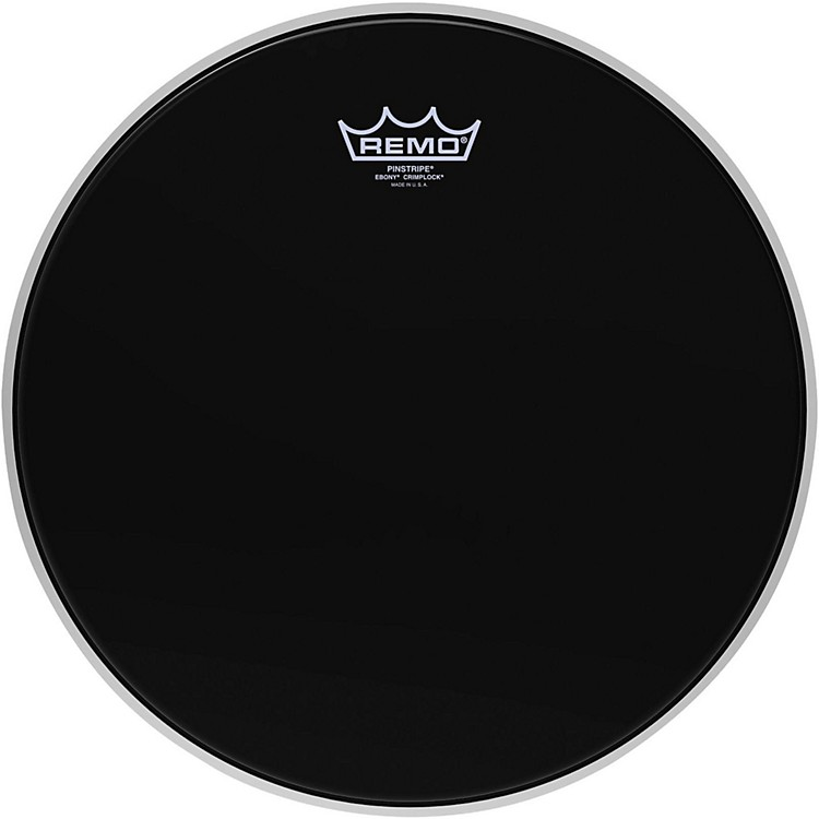 Remo Pinstripe Ebony Crimplock Drum Head 14 in.