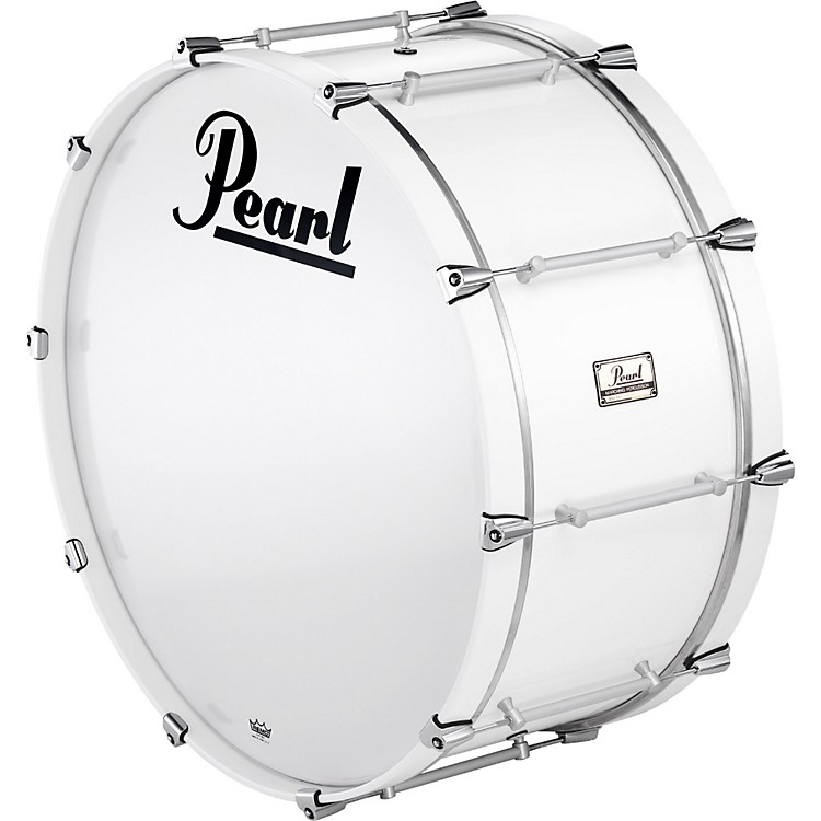 PearlPipe Band Bass Drum with Tube Lugs#109 Arctic White28x12