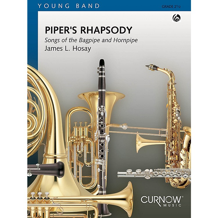 Curnow MusicPiper's Rhapsody (Grade 2 - Score Only) Concert Band Level 2 Composed by James L Hosay