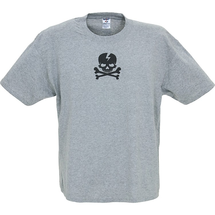 Gear One Pirate Skull T-Shirt Gray Large