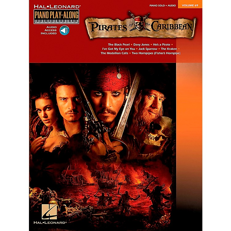 Hal LeonardPirates Of The Caribbean - Piano Play-Along Volume 69 (CD/Pkg) arranged for piano, vocal, and guitar (P/V/G)