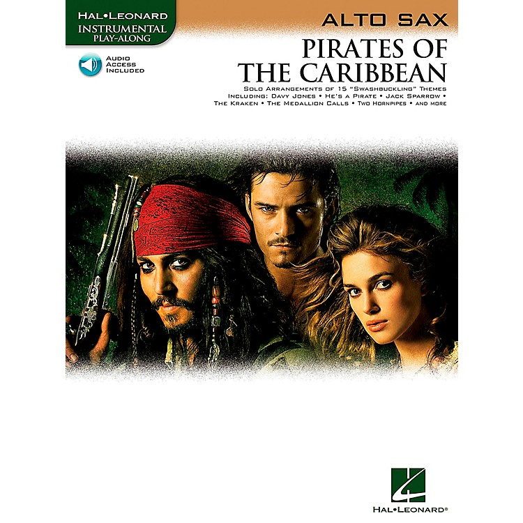 Hal Leonard Pirates Of The Caribbean for Alto Sax Instrumental Play-Along (Book/Online Audio)