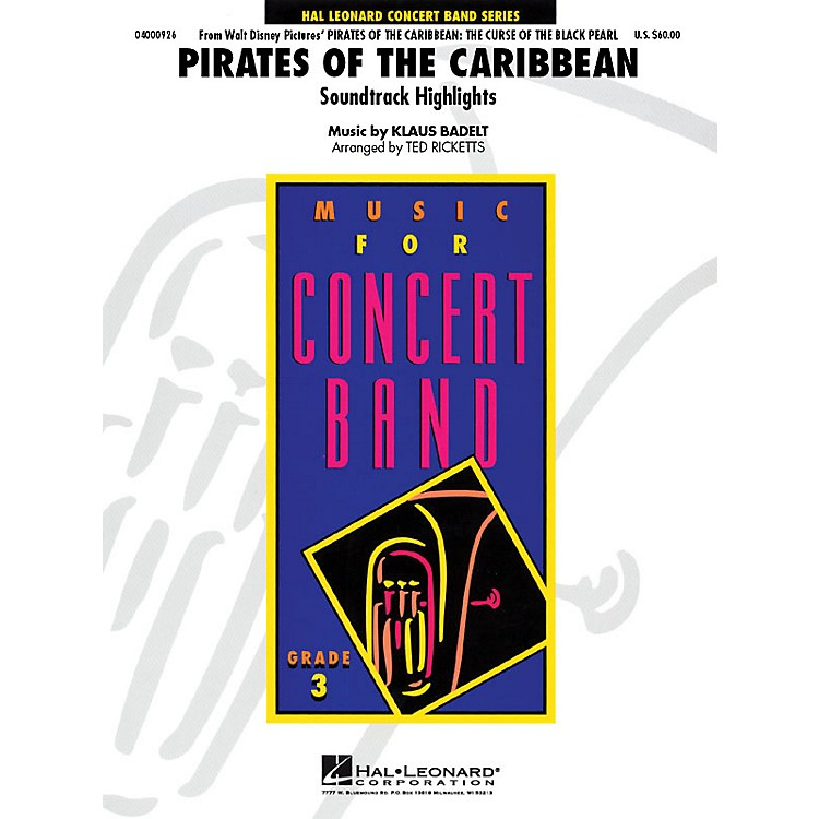 Hal LeonardPirates of the Caribbean - Young Concert Band Series Level 3 arranged by Ted Ricketts