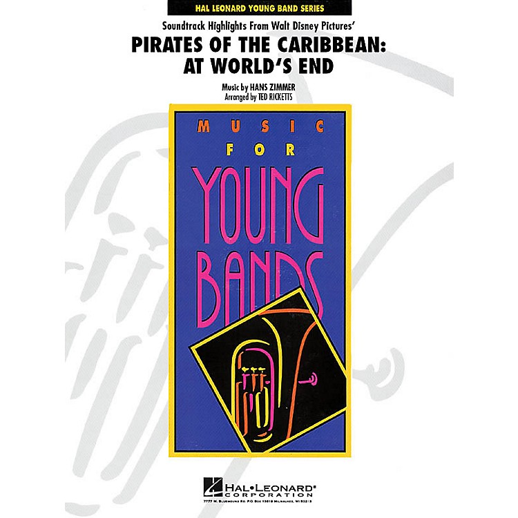 Hal LeonardPirates of the Caribbean: At World's End - Young Concert Band Series Level 3 arranged by Ted Ricketts
