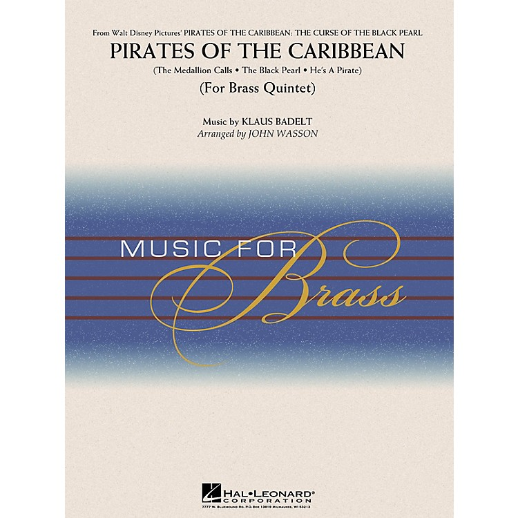 Hal LeonardPirates of the Caribbean (Brass Quintet (opt. Percussion)) Concert Band Level 3-4 Arranged by John Wasson