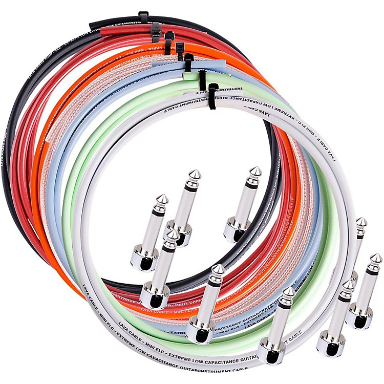 LavaPiston Solder-Free Mini ELC Cable Kit with 10 Right Angle Plugs10 ft.Orange