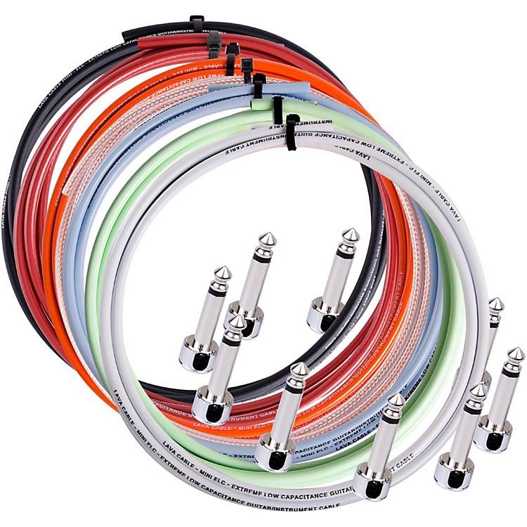 LavaPiston Solder-Free Mini Ultramafic Right Angle Cable Kit5 ft. with 12 plugsPurple