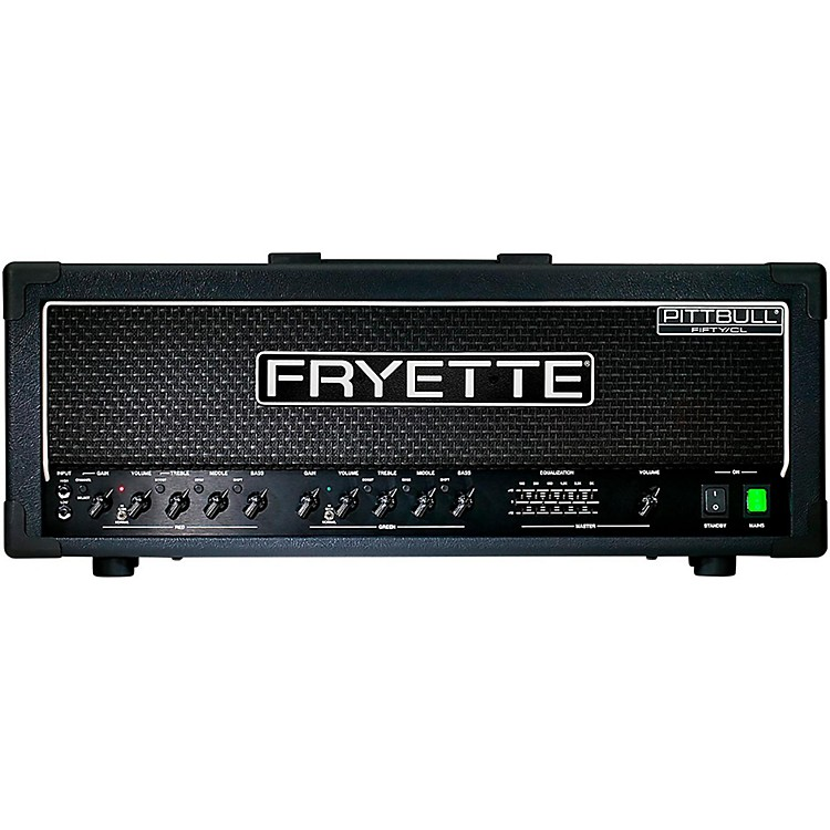 Fryette Pittbull Fifty/CL 50W Tube Guitar Amp Head Black