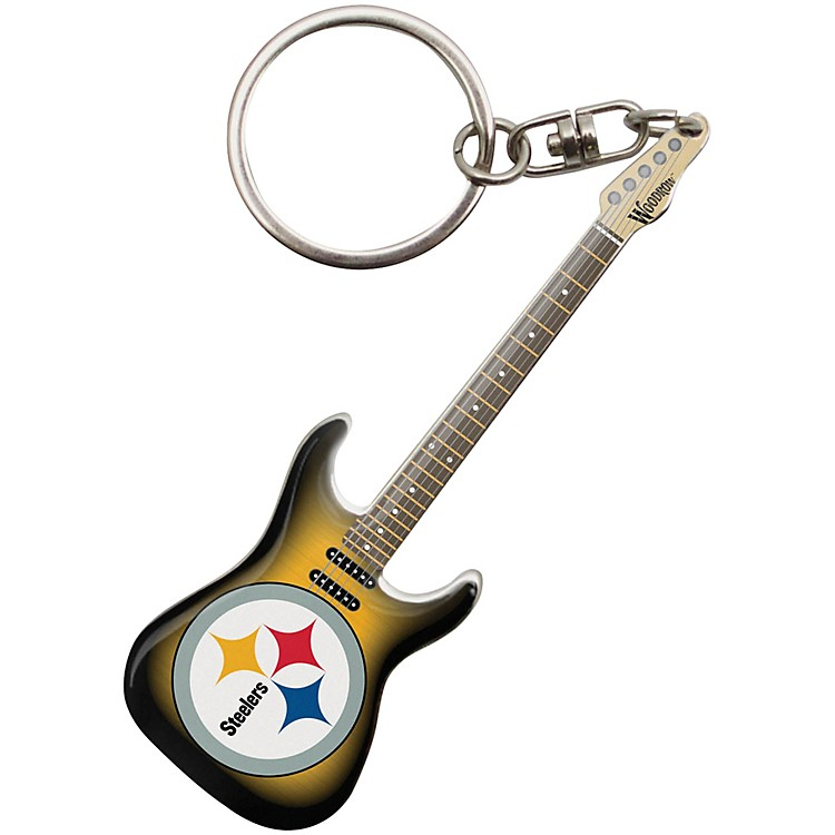 Woodrow GuitarsPittsburgh Steelers Electric Guitar Keychain