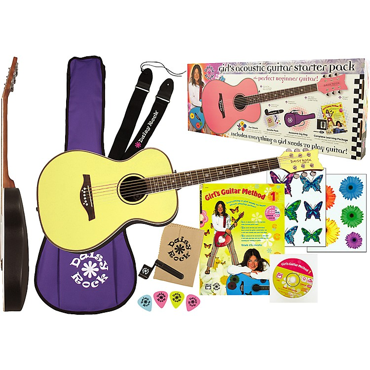 Daisy Rock Pixie Acoustic Guitar Starter Pack Blue