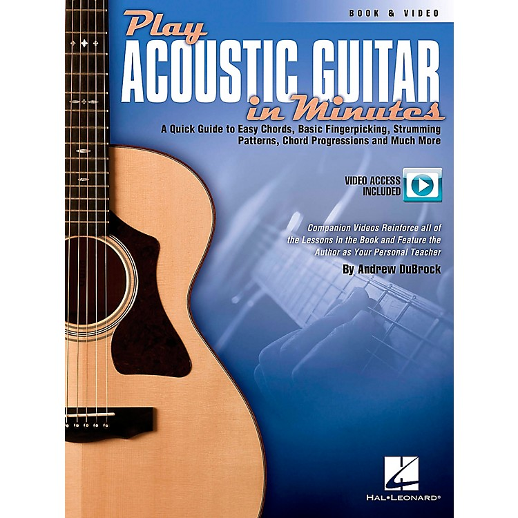 Hal Leonard Play Acoustic Guitar In Minutes Book/DVD