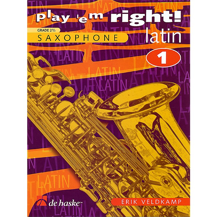De Haske Music Play 'Em Right Latin - Vol. 1 (Vol. 1 - Eb/Bb Sax) De Haske Play-Along Book Series