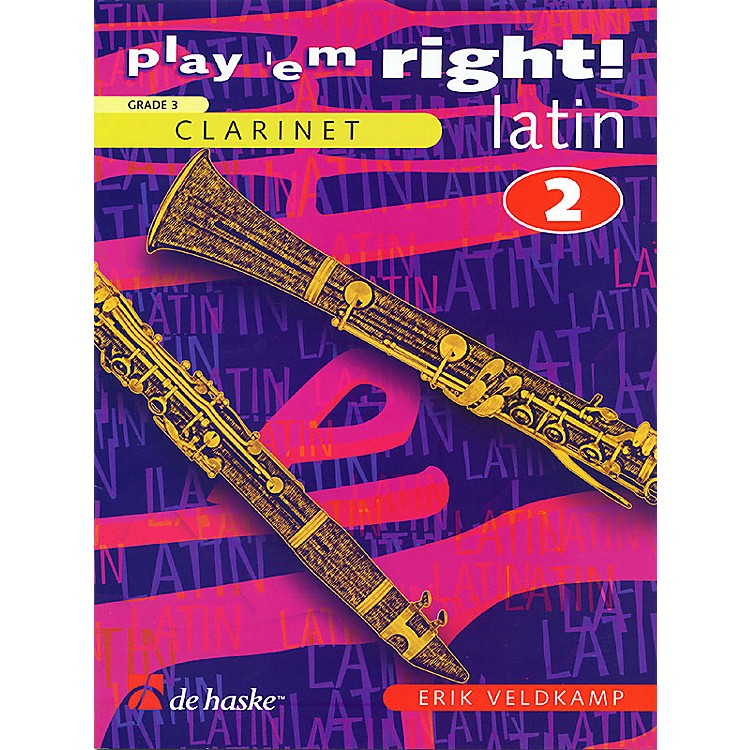 De Haske MusicPlay 'Em Right Latin - Vol. 2 (Vol. 2 - Clarinet) De Haske Play-Along Book Series