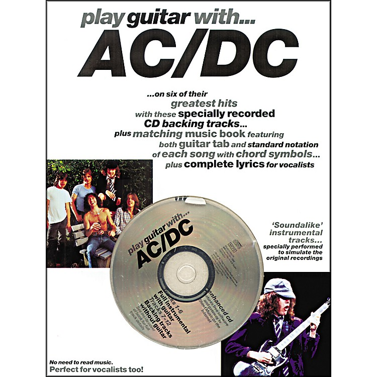 Music Sales Play Guitar with AC/DC Guitar Tab Songbook with CD