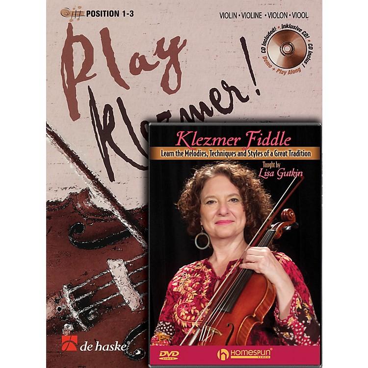 HomespunPlay Klezmer - Violin/Fiddle Bundle Pack Homespun Tapes Series Performed by Lisa Gutkin