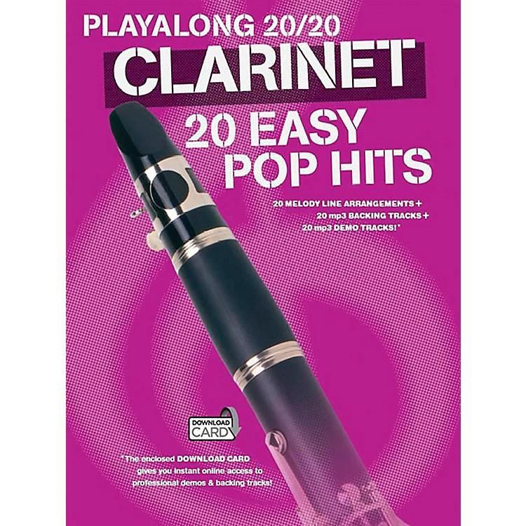 Music SalesPlayalong 20/20 Clarinet - 20 Easy Pop Hits (Book/Audio)