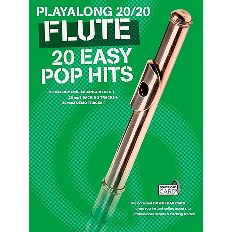 Music Sales Playalong 20/20 Flute - 20 Easy Pop Hits (Book/Audio)