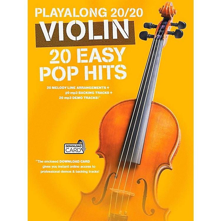 Music SalesPlayalong 20/20 Violin - 20 Easy Pop Hits (Book/Audio)