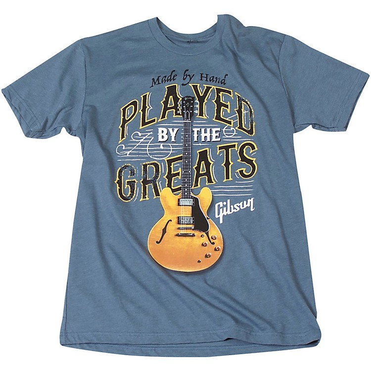 GibsonPlayed By The Greats Vintage T-ShirtSmallIndigo Blue