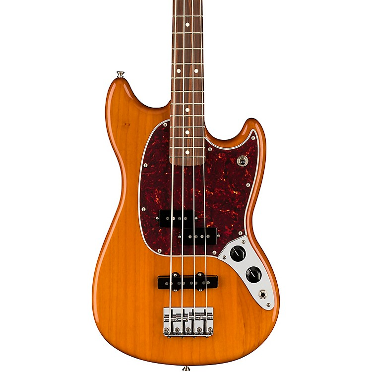 FenderPlayer Mustang PJ Bass with Pau Ferro FingerboardAged Natural