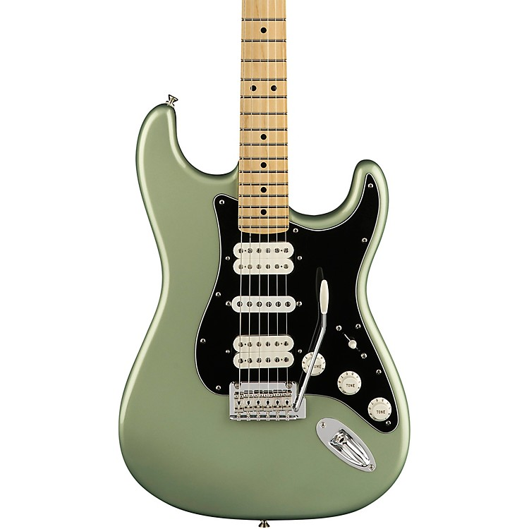 FenderPlayer Stratocaster HSH Maple Fingerboard Electric GuitarSage Green Metallic