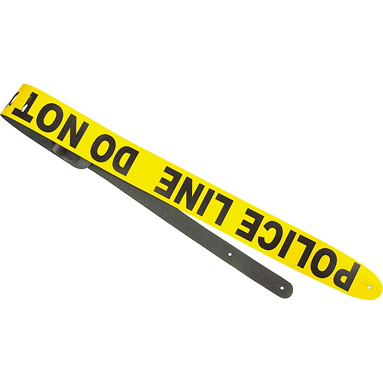 Perri's Police Line Leather Guitar Strap