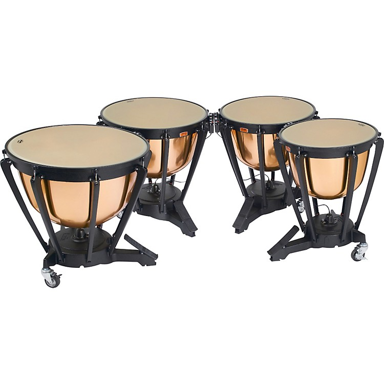 Yamaha Polished Copper Timpani Set 23, 26, 29, 32 Inch w/Covers