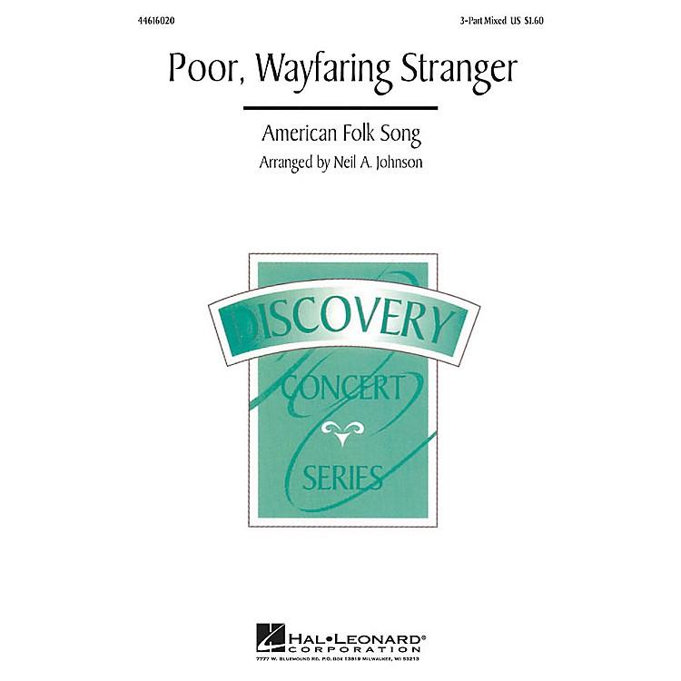 Hal LeonardPoor, Wayfaring Stranger 3-Part Mixed arranged by Neil Johnson