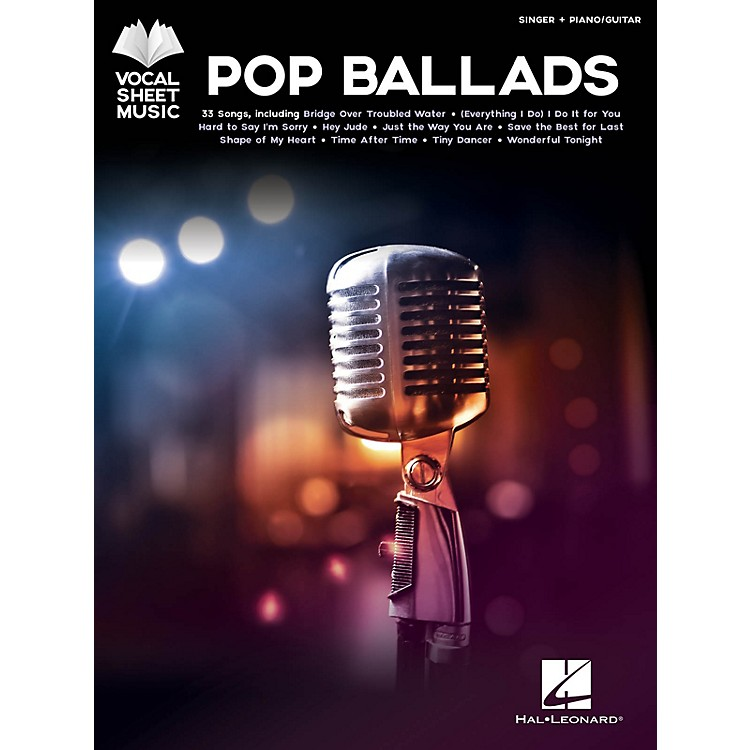 Hal LeonardPop Ballads - Vocal Sheet Music Series Songook (Singer + Piano/Guitar)