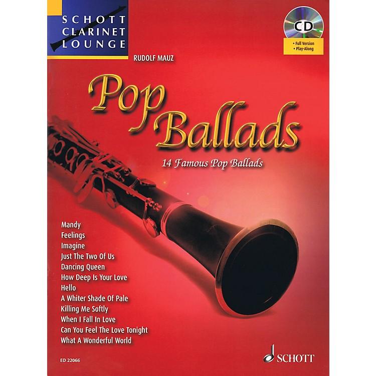 SchottPop Ballads (Schott Clarinet Lounge) Woodwind Series BK/CD