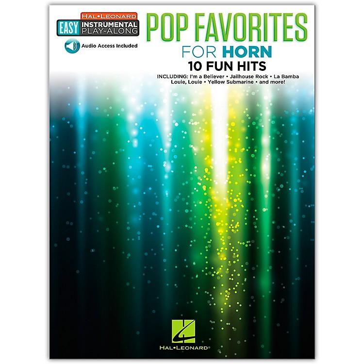Hal LeonardPop Favorites for Horn Easy Instrumental Play-Along Book/Audio Online