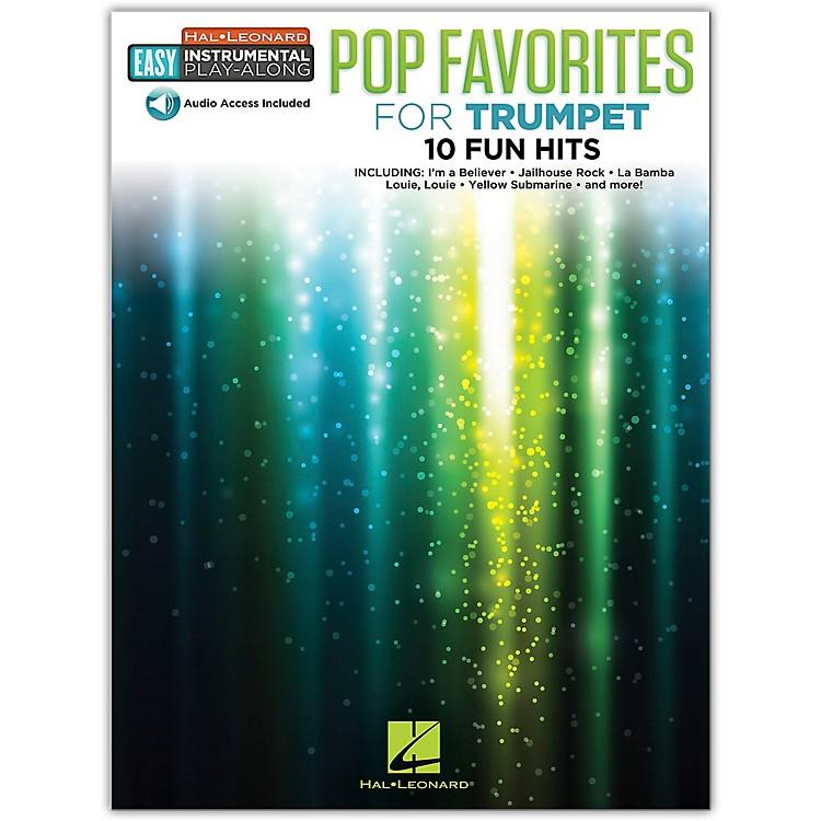 Hal LeonardPop Favorites for Trumpet Easy Instrumental Play-Along Book/Audio Online