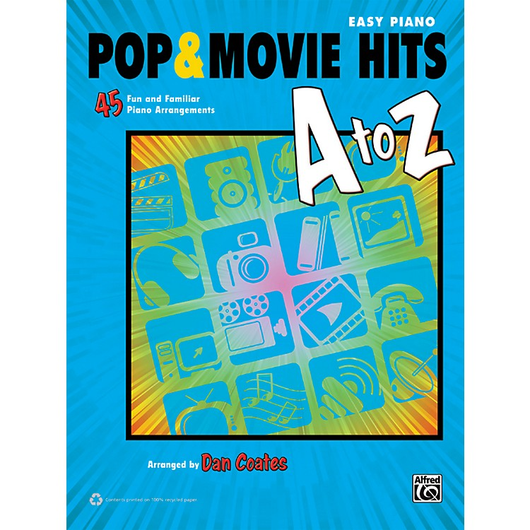 AlfredPop & Movie Hits A to Z Easy Piano Book