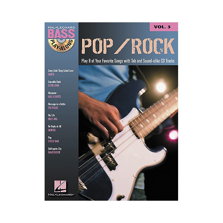 Hal LeonardPop/Rock Bass Guitar Play-Along Series Book with CD