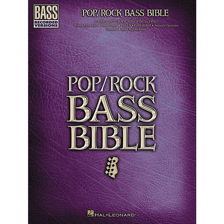 Hal LeonardPop/Rock Bible Bass Guitar Tab Songbook