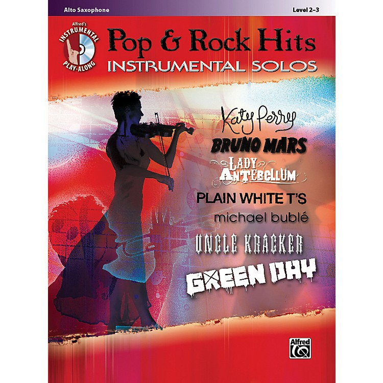 Alfred Pop & Rock Hits Instrumental Solos Alto Saxophone Book & CD