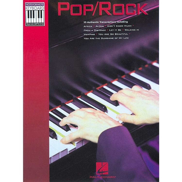 Hal LeonardPop Rock Keyboard Transcriptions Songbook