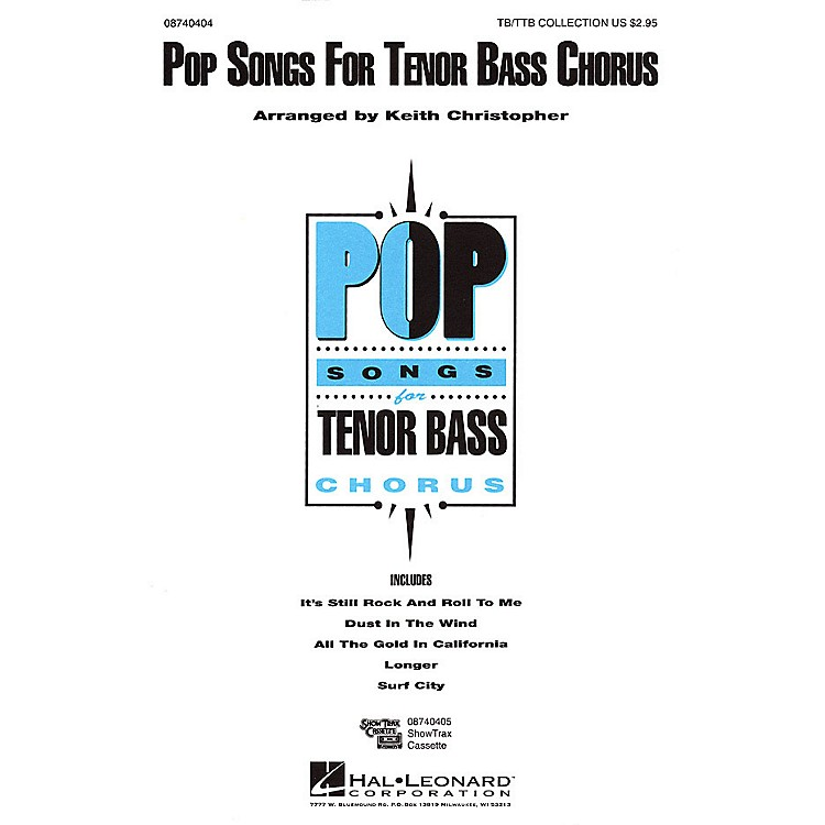 Hal LeonardPop Songs for Tenor Bass Chorus (Collection) TB/TTB arranged by Keith Christopher