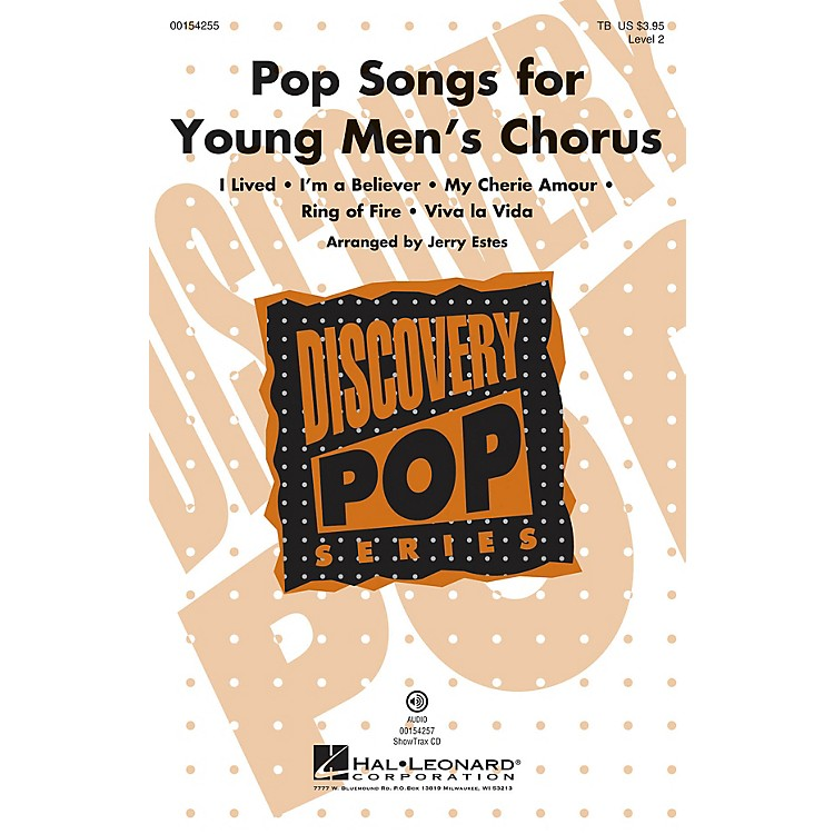 Hal LeonardPop Songs for Young Men's Chorus (Discovery Level 2) TB arranged by Jerry Estes